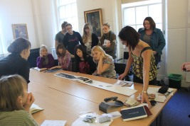 Wuon Gean ran a workshop for students on making Artists' book