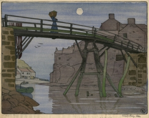 Staithes woodcut