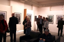 Opening of Frederike s'Jacob 'Mostly People' exhibition at Aberystwyth University School of Art