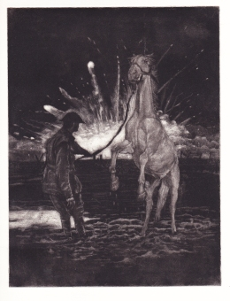 Andrew Baldwin First World War etching 2014