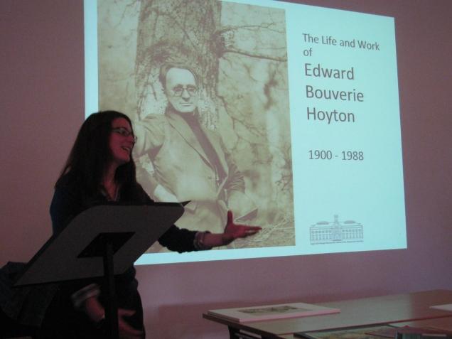 Jen Loffman lecturing on Bouverie Hoyton