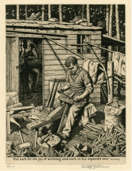 Chiltern Wood Turners, engraving, 1945