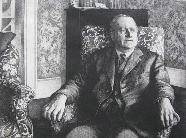 John Roberts, Sir Cenydd Traherne, etching