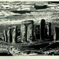 Stonehenge, Gertrude Hermes, 1963, wood engraving in black on thin white proofing paper