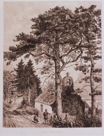 Fig. 5 Capel, Nantgwllt engraved by EJ Burrow after RE Tickell, 1893.
