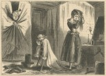 """""""Standing before the dressing-g;lass was a middle-aged lady in yellow curl-papers, busily engaged in brushing what ladies call their 'back hair'."""""""