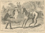 """""""The horse no sooner beheld Mr. Pickwick advancing with the chaise whip in his hand."""""""