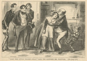 """""""Take this little villain away"""", said the agonised Mr. Pickwick."""