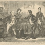 """""""The heroic man actually threw himself into a paralytic attitude, confidently supposed by the two bystanders to have been intended as a posture of self-defence."""""""
