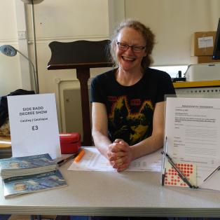 Our dedicated catalogue seller Helen.