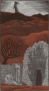 Heledd wandering alone in the Hills from Harry Brockway: The Story of Heledd ©Gwasg Gregynog