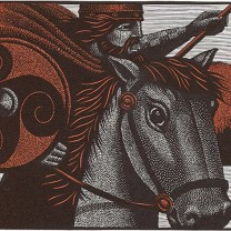 Horse and rider from Harry Brockway: The Story of Heledd ©Gwasg Gregynog