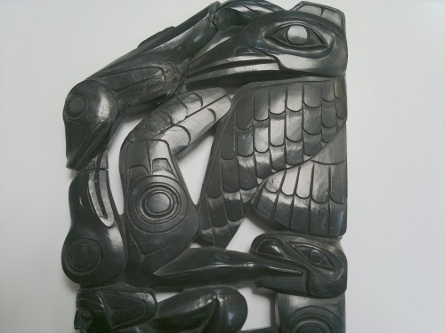 Haida Argillite Carving Broken Part III Jul 2017