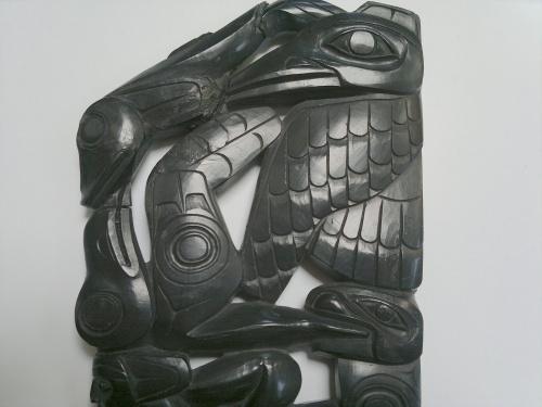 Haida Argillite Carving Broken Part III Jul 2017