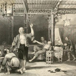 Chinese opium smokers, 19th century