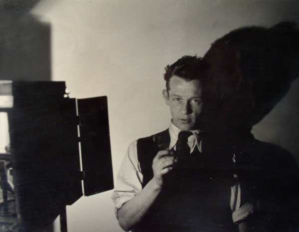 Self-portrait, Keith Vaughan, 1939, Silver print on Agfa Brovira paper
