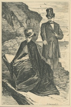 """""""Lady Ongar, are you not rather near the Edge?"""", The Claverings, Cornhill Magazine Vol. 14, 1866, Mary Ellen Edwards, PL1237"""