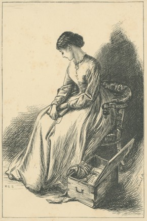 'Florence Burton makes up a Packet', The Claverings, Cornhill Magazine Vol. 14, 1866, Mary Ellen Edwards, PL1238