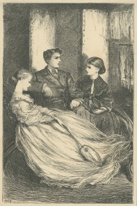 'Harry sat between them, like a sheep as he was, very meekly.', The Claverings, Cornhill Magazine Vol. 15, 1867, Mary Ellen Edwards, PL1262
