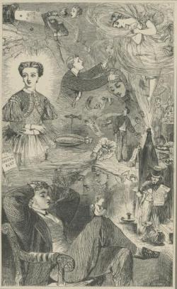 The Young Gentleman's New Year's Dream, London Society Vol. 2, 1862, Florence Claxton, PL611