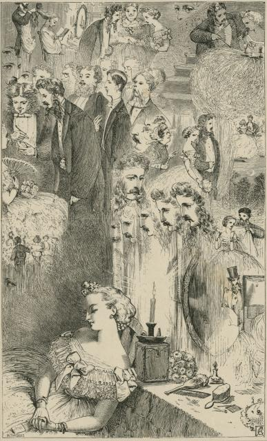 The Young Lady's New Year's Dream, London Society Vol. 2, 1862, Adelaide Claxton, PL566