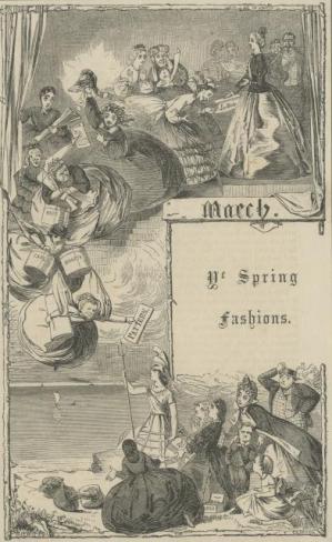 Ye Spring Fashions, London Society Vol. 1, 1862, Florence Claxton, PL612