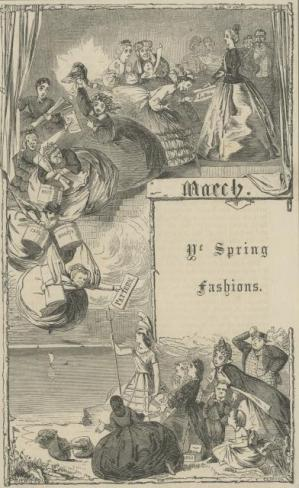 Ye Spring Fashions, London Society Vol. 1, 1862, Florence Claxton, PL612