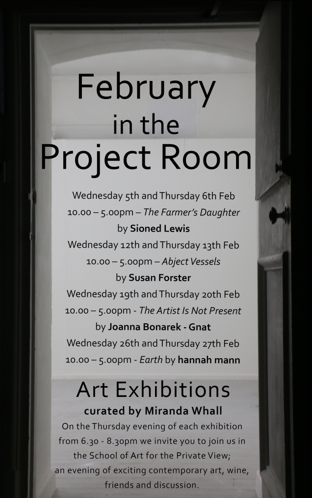 Poster Feb in the Project Room